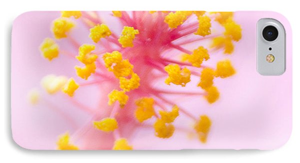 Hibiscus In Pink And Yellow IPhone Case by Anne Rodkin