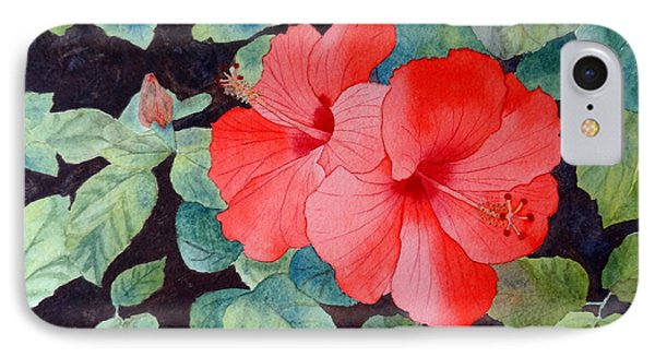 IPhone Case featuring the painting Hibiscus by Laurel Best