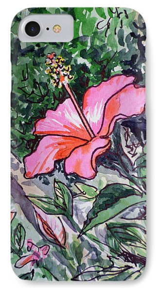 Hibiscus Sketchbook Project Down My Street  Phone Case by Irina Sztukowski