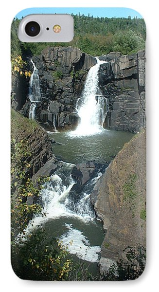 IPhone Case featuring the photograph High Falls Grand Portage by Bonfire Photography
