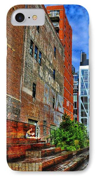 High Line Park Scene Phone Case by Randy Aveille