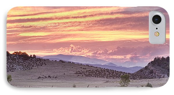 High Park Fire Larimer County Colorado At Sunset IPhone Case