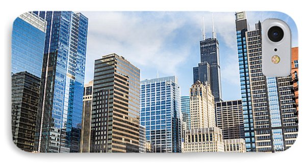 High-res Picture Of Chicago Skyline City Buildings IPhone Case by Paul Velgos