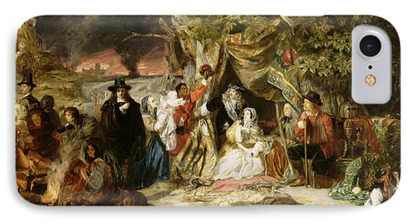 Highgate Fields During The Great Fire Of London In 1666 IPhone Case