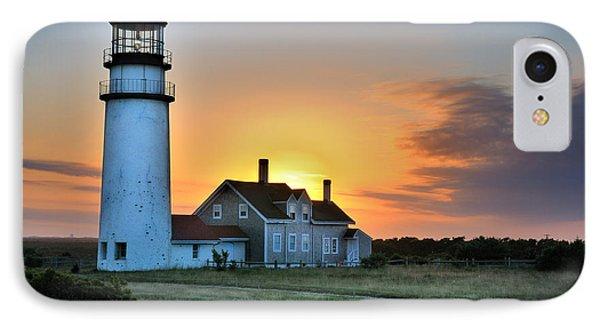 Highland Lighthouse - Sunset Burst IPhone Case by Thomas Schoeller