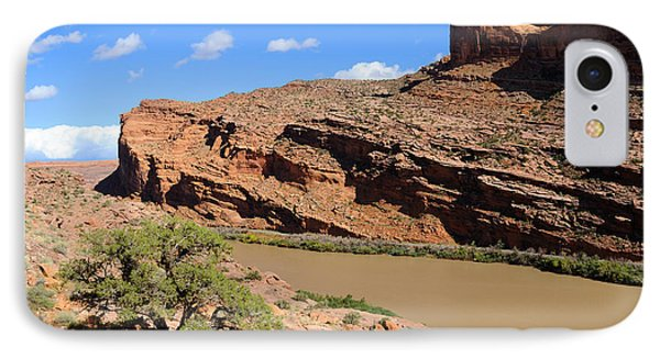 Hiking The Moab Rim Phone Case by Gary Whitton