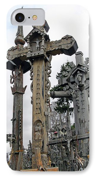 Hill Of Crosses 09. Lithuania IPhone Case by Ausra Huntington nee Paulauskaite