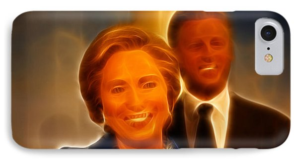 Hillary Rodham Clinton - United States Secretary Of State - Bill Clinton Phone Case by Lee Dos Santos