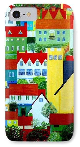 Hillside Village IPhone Case by Barbara Moignard