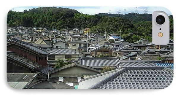 Hillside Village In Japan IPhone Case by Daniel Hagerman