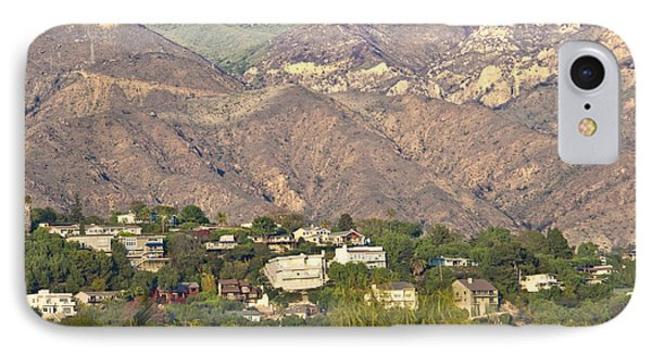 Hilly Residential Area Phone Case by David Buffington