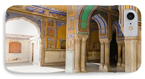 Hindu Palace Interior Phone Case by Inti St. Clair
