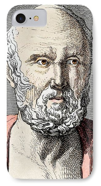 Hippocrates, Ancient Greek Physician Phone Case by Sheila Terry