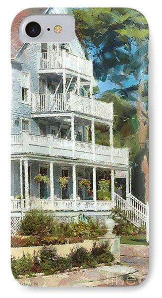 Historic Harbour View Inn B And B Mackinac Island Michigan IPhone Case by Anne Kitzman