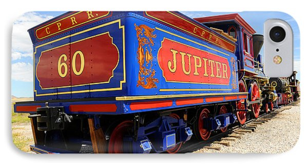 Historic Jupiter Train - Promontory Point National Historic Park IPhone Case by Gary Whitton