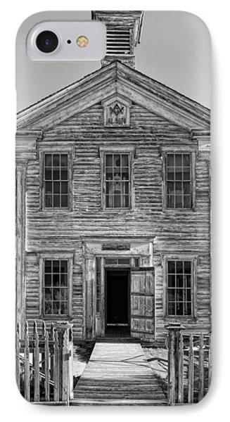 Historic Masonic Lodge 3777 In Bannack Montana Ghost Town IPhone Case by Daniel Hagerman