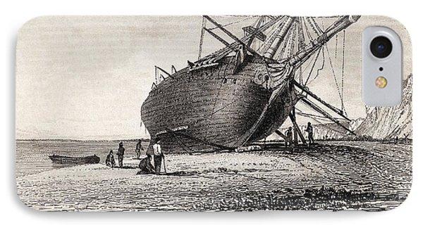 Hms Beagle Ship Laid Up Darwin's Voyage Phone Case by Paul D Stewart