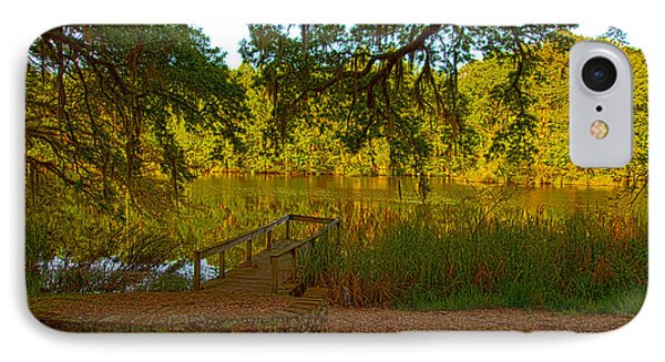 Hobcaw Barony Pond IPhone Case by Bill Barber