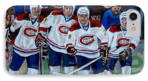 Hockey Art At Bell Center Montreal Phone Case by Carole Spandau