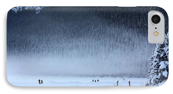 IPhone Case featuring the photograph Hockey On Lake Louise by Alyce Taylor
