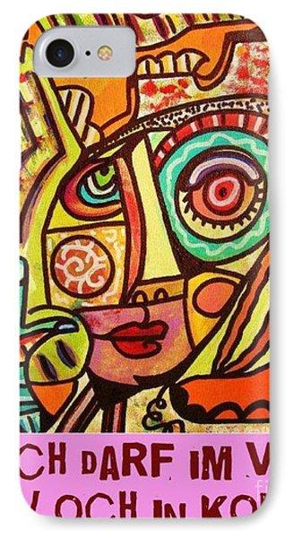 Hole In My Head - Yiddish Phone Case by Sandra Silberzweig