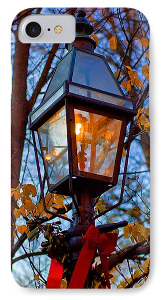 Holiday Streetlamp Phone Case by Joann Vitali