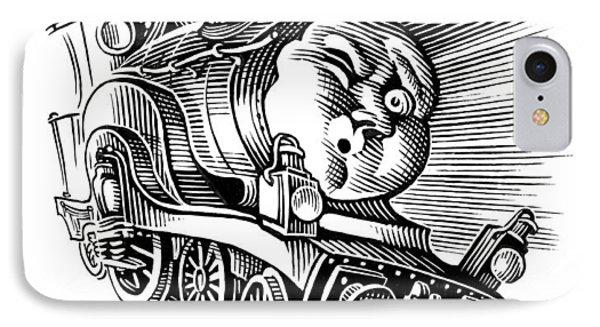 Holiday Train, Conceptual Artwork Phone Case by Bill Sanderson