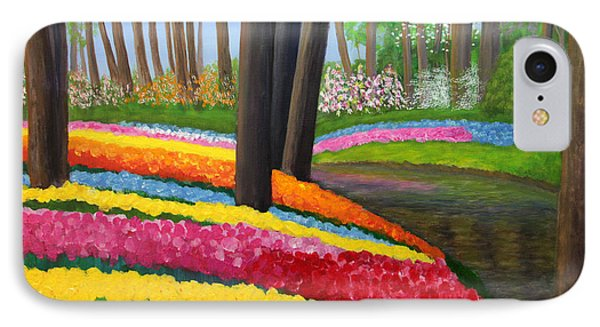 IPhone Case featuring the painting Holland Gardens by Janet Greer Sammons