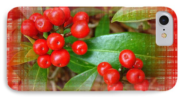 Holly Berries Phone Case by Mother Nature