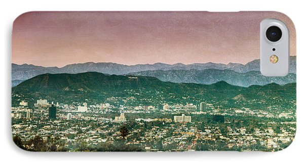 Hollywood At Sunset IPhone Case by Natasha Bishop
