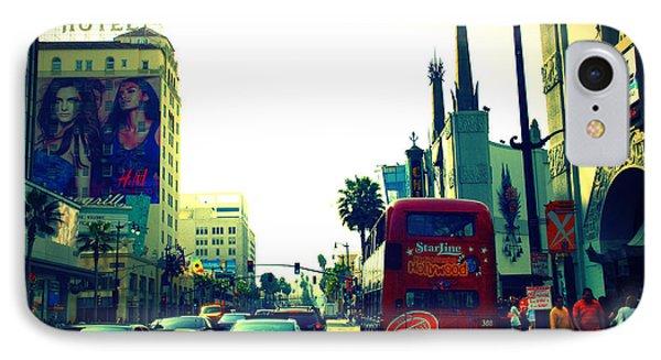 Hollywood Boulevard In La Phone Case by Susanne Van Hulst