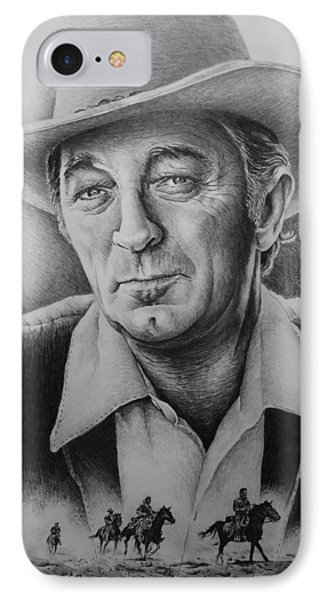 Hollywood Greats -robert Mitchum Phone Case by Andrew Read