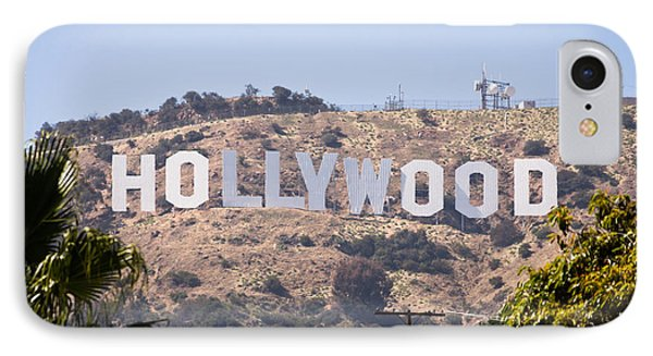 Hollywood Sign Photo Phone Case by Paul Velgos