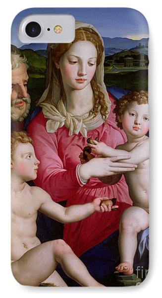 Holy Family With St Anne And The Infant St John The Baptist IPhone Case by Agnolo Bronzino