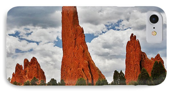 Home Of The Weather God - Garden Of The Gods - Colorado City Phone Case by Christine Till