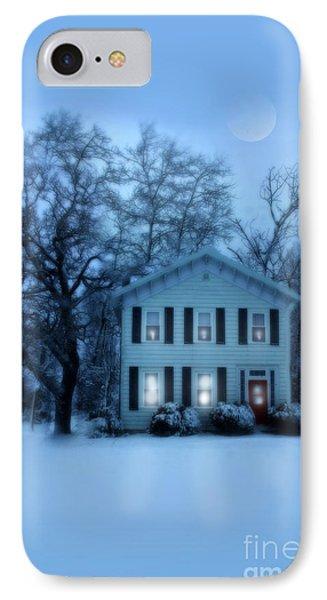 Home On A Wintery Evening Phone Case by Jill Battaglia