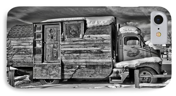 Home On Wheels - Bw Phone Case by Christopher Holmes