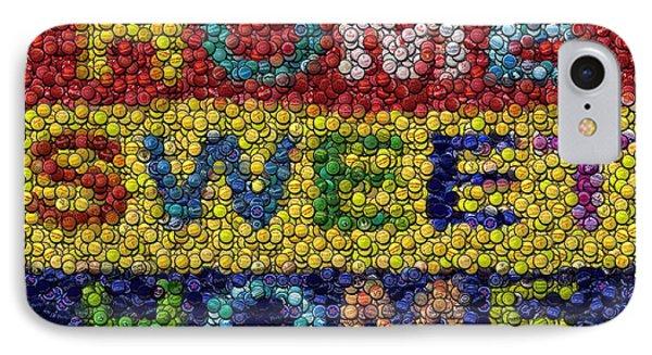 Home Sweet Home Bottle Cap Mosaic  Phone Case by Paul Van Scott
