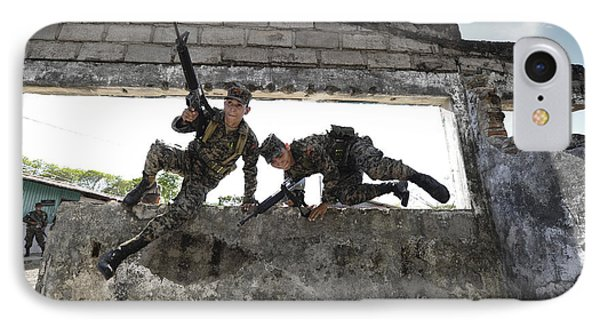 Honduran Army Soldiers Perform Building Phone Case by Stocktrek Images