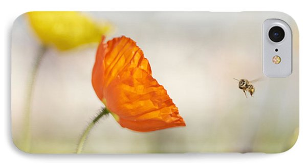 Honey Bee And Colorful Poppies IPhone Case