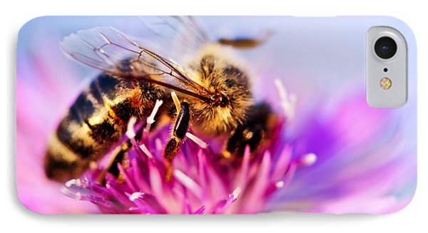Honeybee iPhone 7 Case - Honey Bee  by Elena Elisseeva