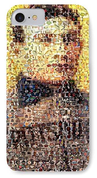 Honus Wagner Mosaic IPhone Case by Paul Van Scott