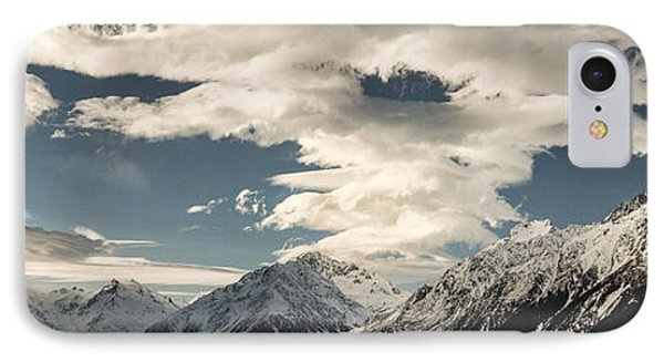 Hooker River In The Valley At Tasman Phone Case by Colin Monteath
