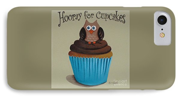Hooray For Cupcakes Phone Case by Catherine Holman