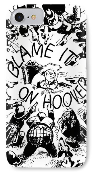 Hoover Cartoon, 1931 Phone Case by Granger