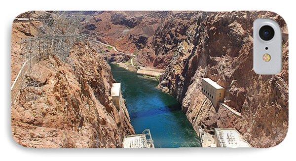 Hoover Dam Bridge IPhone Case by Mike McGlothlen