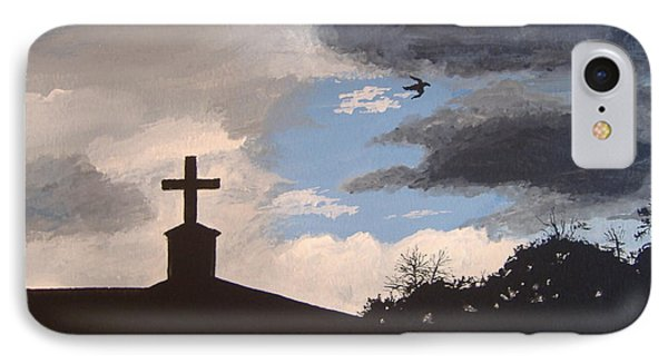 IPhone Case featuring the painting Hope In The Storm by Norm Starks
