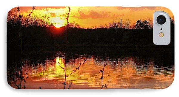 Horn Pond Sunset 8 IPhone Case