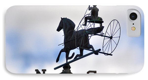 Horse And Buggy Weather Vane IPhone Case by Bill Cannon