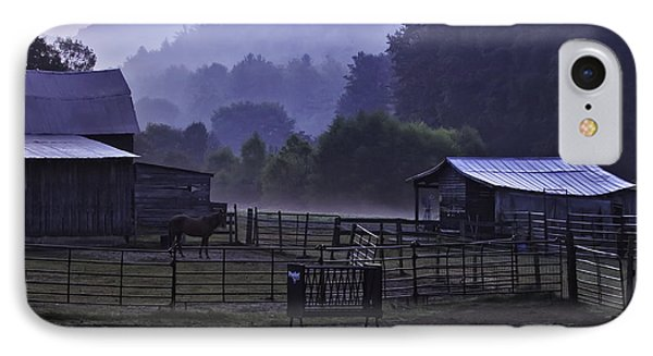 Horse At Home - North Carolina Farm Scene Phone Case by Rob Travis